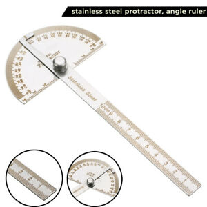 1Pc Stainless Steel 180 degree Protractor Angle Finder Arm Measuring Ruler Tool $2.43