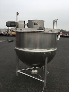 LEE KETTLE 500D9M Gallon Stainless Steel, Double Motion Jacketed, Variable Speed
