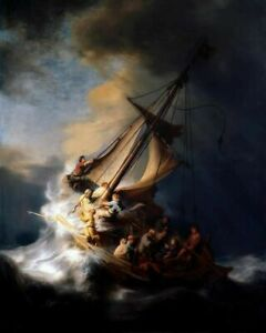 REMBRANDT CHRIST IN THE STORM 8X10 ART PRINT $7.99