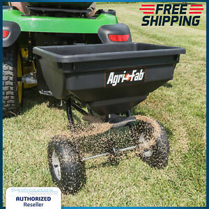 Tow Behind Fertilizer Spreader 85 Lb Broadcast Hopper Seed ATV Lawn Pull Tractor