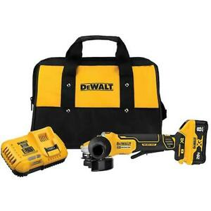 DeWALT DCG415W1 20V MAX XR 4 1 2quot; 5quot; Cordless Switch Small Angle Grinder Kit $279.00