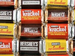 Hershey's Miniatures Chocolate Bars Assortment Original, Candy Bulk
