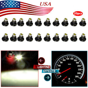 10Pcs White T3 Neo Wedge 1SMD LED Dash A C Climate Control HVAC Heater Lights $106.68