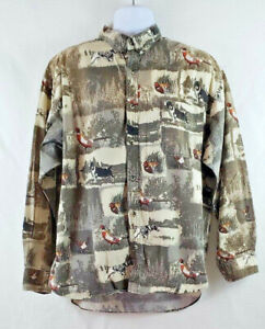 Field Tested outdoor men#x27;s button down hunting Dress Shirt size XL B34