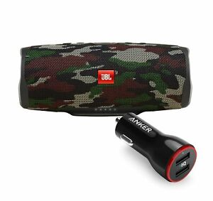 JBL Charge 4 Camouflage BT Speaker w USB Car Charger