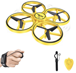 One Hand Easy Fly Drone Obstacle Avoidance Motion Sensor Cool LED Lights $29.95