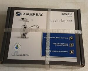 Glacier Bay 395 310 Single Hole Single-Handle Low-Arc Bathroom Faucet Chrome(N)