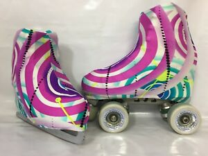 Sixty's Swirls Boot Covers for Roller Skates Ice Skates MEDIUM ONLY