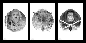 Star Wars Trilogy Set Variant Giclee Prints #9100 Signed Gabz not Mondo $150.00