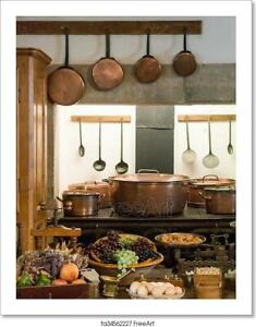 Old Country Style Kitchen With Art Canvas Print. Poster Wall Art Home Decor