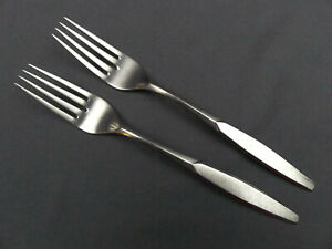 2 x International  Saturna Stainless Deluxe Dinner Fork 7 5/8