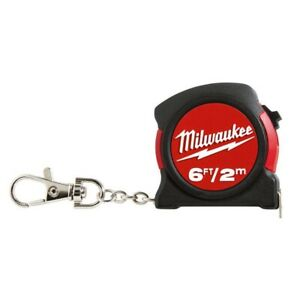 6ft2m Keychain Tape Measure Clip Pocket Size Dual Print Feet Inches DIY Tape $5.37