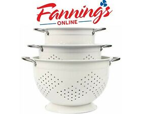 Rorence Colanders Coated Steel Set Of 3 White Kitchen amp;amp Dining w DEFECT