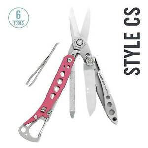 LEATHERMAN Style CS Multitool w Spring Action Scissors amp; Grooming Tools Pink