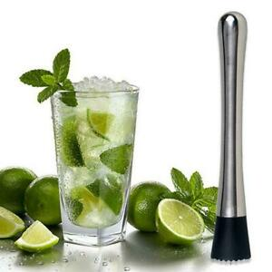 Cocktail Muddler Stainless Steel Bar Mixer Barware W1G3 Drink Mojito I0S6