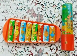 TWO VINTAGE TOYS 1950#x27;S KALEIDOSCOPE AND 1960#x27;S XYLOPHONE
