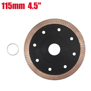 115mm 4.5''  Thin Turbo Diamond Tile Dry Cutting Disc Angle Grinder Discs Blade
