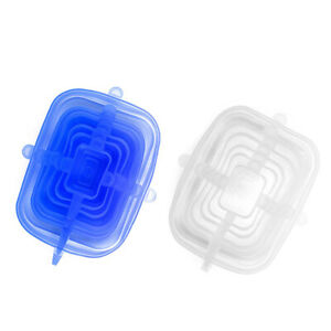 Multi Function Silicone Stretchable Food Lids 6pcs Fresh Keeping Reusable Case