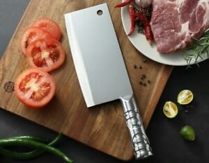 stainless steel Chinese cleaver carving kitchen knife chef butcher knives meat