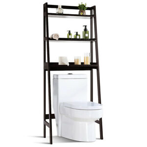 3-Shelf Over-The-Toilet Storage Rack Bathroom Shelf Organizer Space Saver Brown