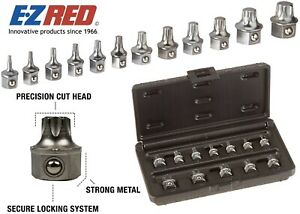 EZ Red T1000 12 Piece Super Low Profile Torx Bit Tool Set New Free Shipping USA