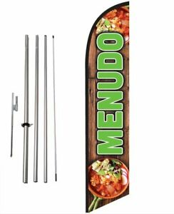 Menudo Mexican Food Advertising Feather Banner Swooper Flag Sign with Flag...