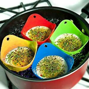 Silicone Eggs Poacher Poaching Poach Cup Pods Mould Cook Random Colours Useful C $2.49