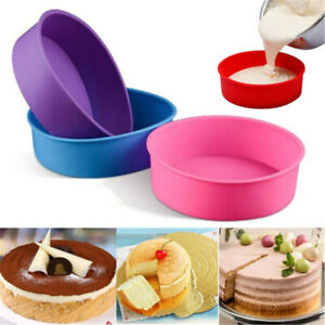 6quot; Cake Mold Silicone Round Bread Muffin Pan Bakeware Mould Baking Tray Random