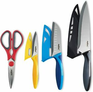 ZYLISS 4 Piece Value Knife Starter Set with Sheath Covers, Stainless Steel