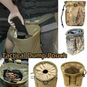 Military Small Molle Belt Tactical Magazine Dump Drop Reloader Pouch Bag W Mesh