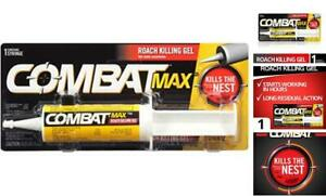 Combat Max Roach Killing Gel for Indoor and Outdoor Use, 1 Syringe, 2.1 Ounce