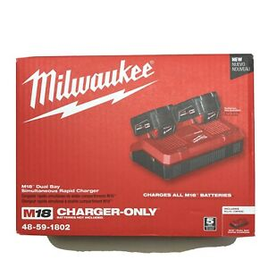 Milwaukee 48 59 1802 M18 Dual Simultaneous Rapid Charger 2 DAY SHIPPING $105.00