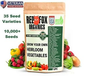 Heirloom vegetable seed kit with 35 varieties 10,000+ seeds seed bank seed vault