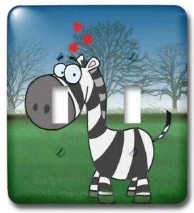 3dRose lsp_58832_2 Baby Zebra On Scenery Double Toggle Switch Free Ship