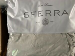 Sferra Larro F/Queen Flat Sheet Beige Double Faced Cotton Sateen-Store Display