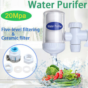 Faucet Water Filter For Kitchen Sink Or Bathroom Mount Filtration Tap Health