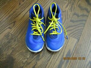 VGUC Boys Blue UNDER ARMOUR Kids Curry Away Sneakers Shoes Sz 13.5 $14.99