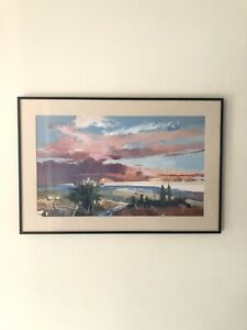 John Maxon Signed Abstract Lithograph Art Framed Painting 36