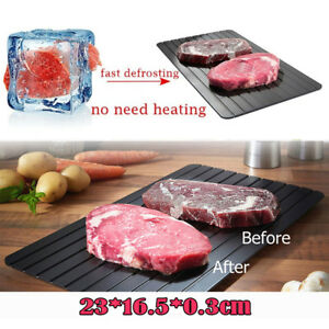 2021 Magic Fast Metal Thawing Plate Defrosting Tray Defrost Meat for Cooking USA