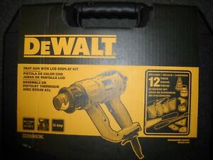 DEWALT D26960K Heavy Duty Heat Gun w/ LCD Display & Kit box With Nozzles New