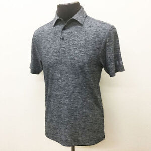 UNDER ARMOUR GOLF MEN'S ELEVATED HEATHER POLO SHIRT BLACK WHITE X LARGE XL 18380 $27.94