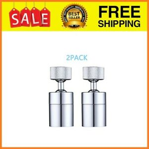 2 Pack Faucet Aerator 80-degree Rotate Dual-function Kitchen Sink Faucet