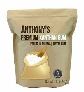 Xanthan Gum 1lb 16 Ounce Packed in the USA by Anthony#x27;s Gluten Free