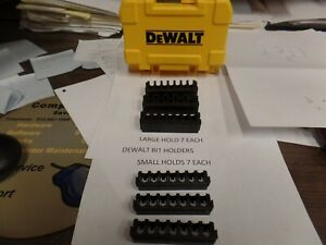 DEWALT QUICK ACCESS BIT HOLDERS YOUR CHOICE OF 3 OF THE LARGER ONES OR SMALL