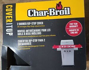 Char-Broil 2 Burner Rip-Stop Barbecue Cover Wide Max 7X Stronger (BRAND NEW)