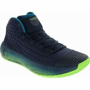 Under Armour HOVR Havoc 2 UA Men's Navy Lime Light Basketball Sneakers Shoes $89.25