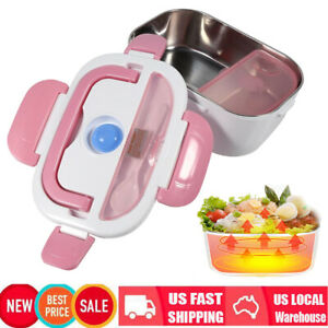 1.5L Electric Heating Bento Lunch Box Heater Stainless Steel Food Container Red