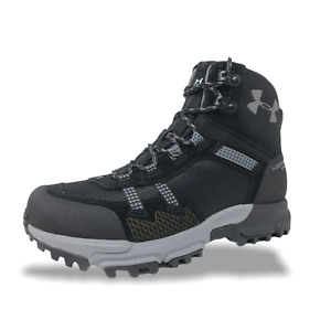 Womens Under Armour UA Post Canyon Mid Waterproof Hiking Shoes Black 1299203 001 $114.99