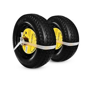 TWO NEW Sawtooth 4.10/3.50-4 LP Flat Free Hand Truck Utility Universal Tires