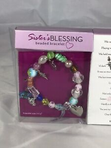 Sister's Blessing Handmade Beaded Bracelet Beads Charms Tell Story Of Sisters